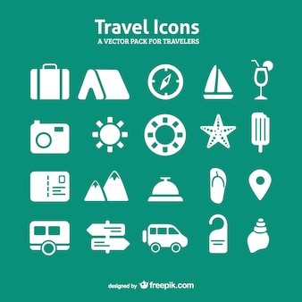 Travel icon set vetor pacote