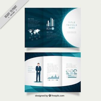 Três dobras de negócio abstrato