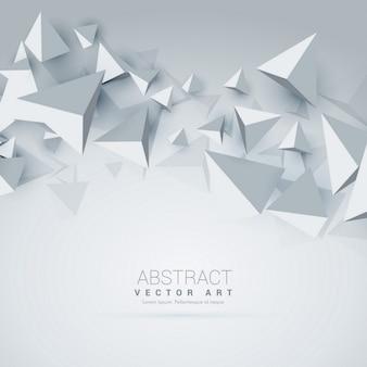 Triângulo abstrato 3d formas fundo