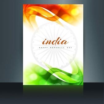 Tricolor brochura bandeira indiana