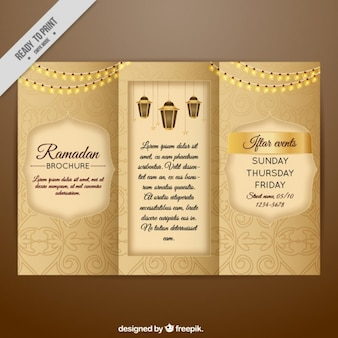 Trifold ramadan decorativa