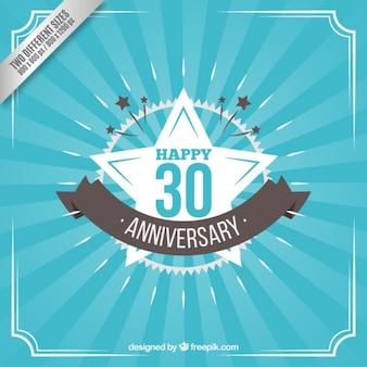 Trinta aniversário feliz no estilo do vintage