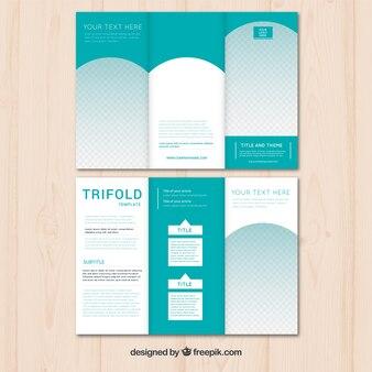 Triptych verde moderno das empresas