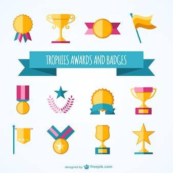 Troféus e prêmios coleção