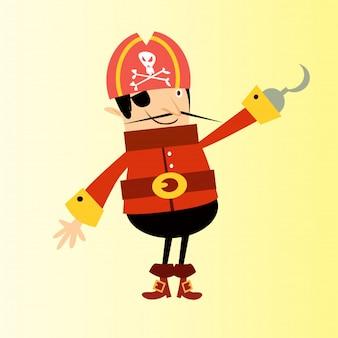 Um dos olhos ganha piratas assaltante marinheiro personagem de desenho animado