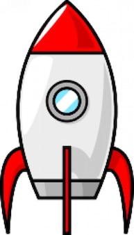 um foguete cartoon