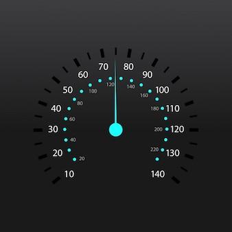 Uma ilustração do velocímetro vector medidor de combustível