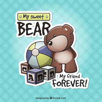 Ursinho de pelúcia e outros brinquedos
