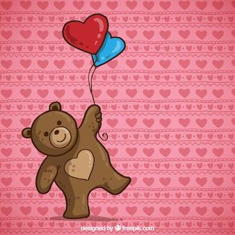 Urso de peluche do Valentim