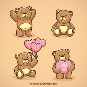 Ursos de peluche ilustrado