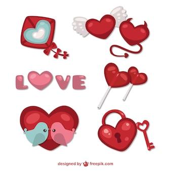 Valentine coisas decorativas