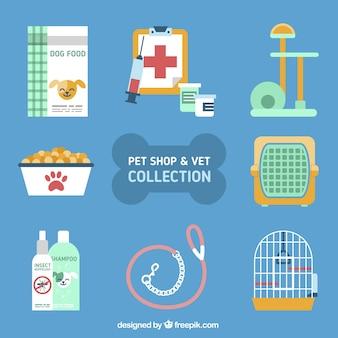 Variedade de acessórios para animais