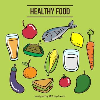 Variedade de alimentos saudáveis colorido