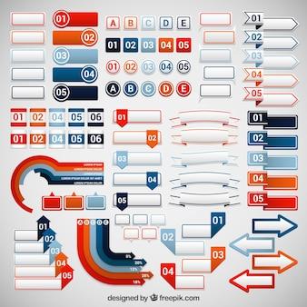 Variedade de banners infográfico