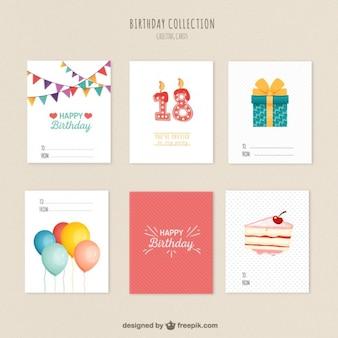 variedade de cartões de aniversário