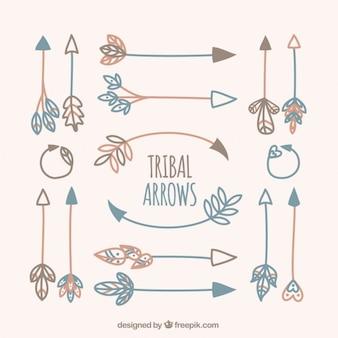 Variedade de flechas tribais