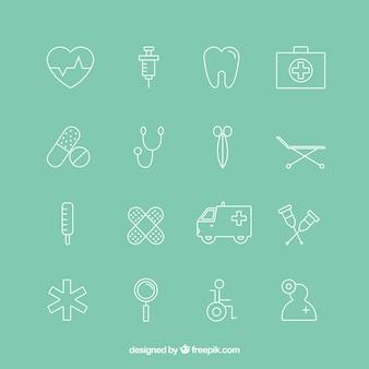 Variedade de ícone médica