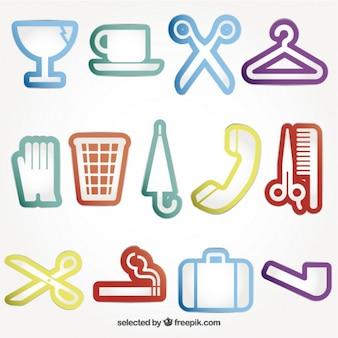 Variedade de ícones coloridos de serviços
