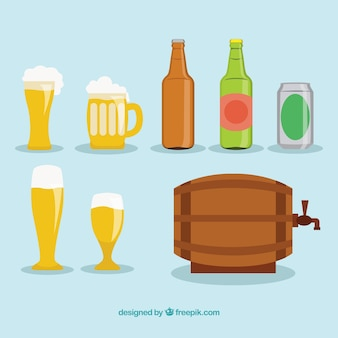 Variedade de ícones da cerveja