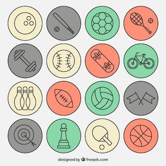 Variedade de ícones do esporte