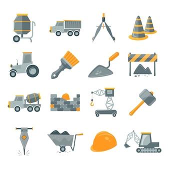 Variedade de itens de construção