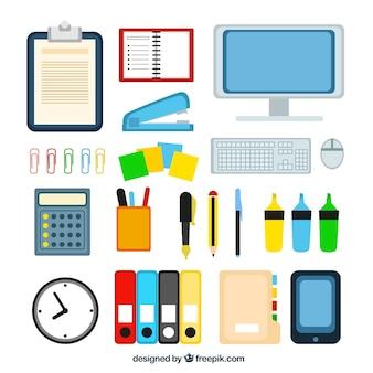 Variedade de material de escritório