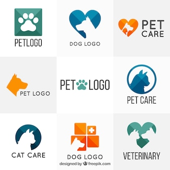 Variedade de modelos de logotipo veterinário