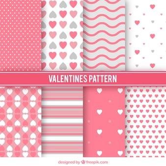 Variedade de padrões valentine