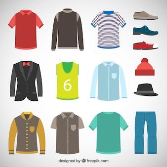 Variedade de roupas masculinas