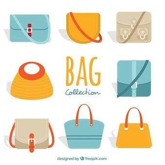 Variedade de sacos da mulher