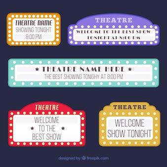 Variedade de sinais de teatro