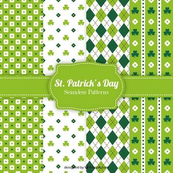Variedade de ST. padrões dia de Patrick