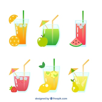 Variedade de suco de frutas