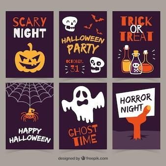 Variedade original de cartões de halloween