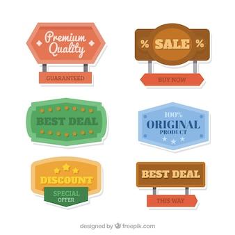 Vários cartazes de venda vintage