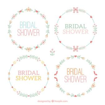 Vários frames florais do casamento