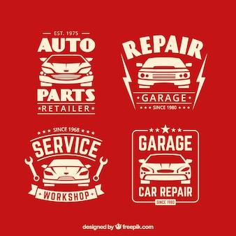 Vários logotipos de veículos em design plano