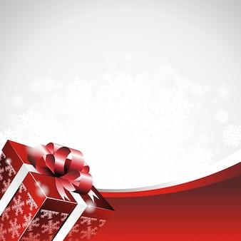 Vector a ilustração do Natal com caixa de presente.
