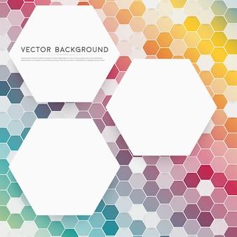 Vector abstrato cor 3d hexagonal.