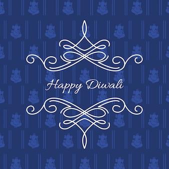 Vector elegante cartão de diwali