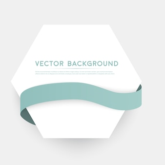 Vector fitas de cores isoladas no fundo branco