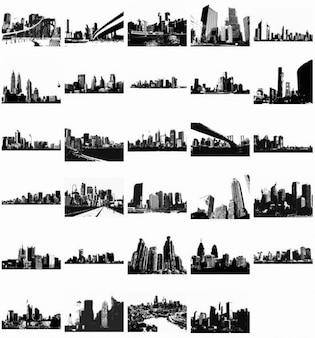 vector livre skylines vetor pacote
