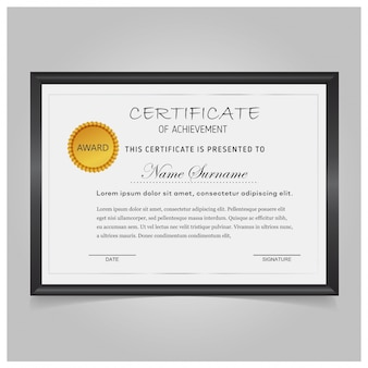 Vector modelo de certificado
