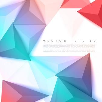 Vector triângulo de fundo abstrato de polígonos.