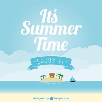 Verão praia vector