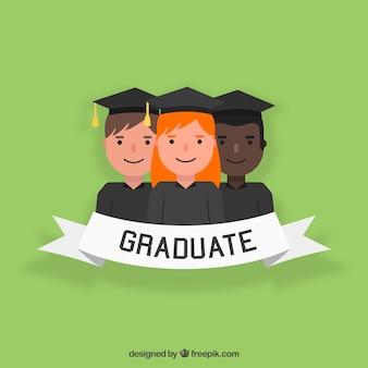 Verde, fundo, jovem, universitário, estudantes