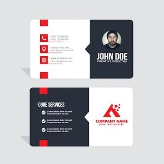 Vermelho e cartão branco