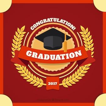 Vermelho, graduação, decorativo, fundo