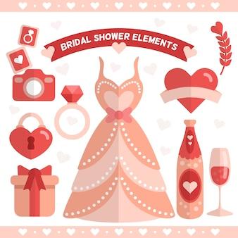 Vestido de casamento com outros elementos decorativos