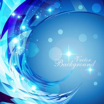 Vetor brilhante cor azul fundo abstrato